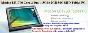 Motion Computing LE1700 Core2Duo 1.5GHz Tablet PC